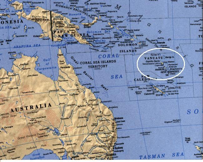 Where Is Vanuatu Located On A World Map.Vanuatu Island State Libraries
